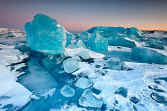 Ice Boulder Field - Jkulsrln, Iceland (orvaratli) Tags: blue winter lake cold ice frozen iceland january lagoon glacier arctic iceberg jkulsrln vatnajkull icecap arcticphoto breiarmerkurjkull