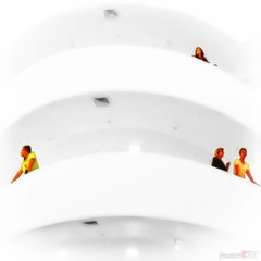 asomados al abismo peering into the abyss (jesuscm) Tags: sculpture usa newyork building art museum stairs design nikon paint gallery arte modernart interior edificio escultura museo diseo escaleras pintura eeuu artecontemporaneo guggenheimny saariysqualitypictures jesuscm magicunicornverybest