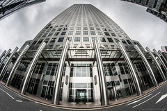 (PeterJot) Tags: city uk canada london architecture square one unitedkingdom britain great fisheye wharf canary onecanadasquare samyang