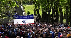 RFU 3 (Redhand1873) Tags: blue red white scotland glasgow protest queenspark trust rangers hampden supporters sanctions rfu andblackfootball