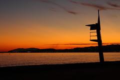 Atardecer en Algarrobo Costa (adriatencia) Tags: espaa atardecer mediterraneo playa cielo malaga vigilante socorrista algarrobocosta