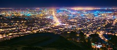 Civilization Summit (Kevin MacLeod (unranged.com)) Tags: sanfrancisco city longexposure light panorama night landscape 50mm nikon cityscape wideangle multipleexposure nighttime twinpeaks lighttrails fullframe d800 nikon50mm18afd kevinmacleod nikond800 d800e nikond800e unrangedcom