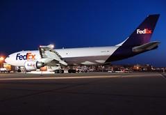 N665FE FedEx Express A300F at KCLE (GeorgeM757) Tags: night aircraft cargo fedex freighter clevelandhopkins a300 769 airfreight kcle fedexexpress n665fe a300f4605r alltypesoftransport