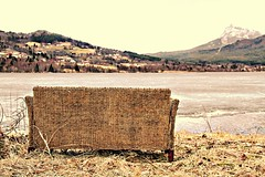 Versgod sitt ned -|- Please, have a seat (erlingsi) Tags: abandoned ice water rotting norway landscape norge is europe sofa scandinavia eis rattan volda landskap erlingsi greatphotographers rattanfurniture rotevatn mygearandme rottingsofa