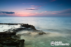 IMG_4739 (skabeds) Tags: ocean blue sunset sea usa west color green water canon landscape hawaii spring long exposure slow purple pacific oahu sean filter nd shutter westside reef grad 1022mm makaha sarmiento waianae makua nd8 60d skatography