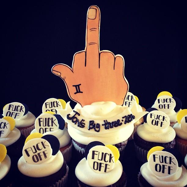 Birthday Cake Middle Finger