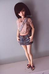Beachy Lena (nenstra) Tags: pink girl bag doll top sandals chloe skirt line denim bjd fairyland abjd aline active atelier mnf minifee momoni crobidoll mnfee ttya wimukt