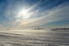Drifting Snow (savillent) Tags: ocean sea sky sun snow ice clouds landscape nt east arctic april beaufort climate drifting 2016 dewline tuktoyaktuk