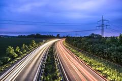 B2 (s.W.s.) Tags: road street longexposure light cars night germany b2 lighttrail meitingen d3300 erlingen