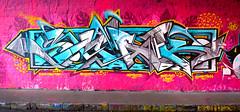 Peeking outside the box (SMAK TOWN) Tags: pink blue sea swansea wales bristol outside graffiti box turqouise arrows sled elves thebox smak 2016 bnie