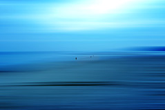 Somewhere, something incredible is waiting to be known.   by Carl Sagan (eggii) Tags: blue sea people silhouette soft space poland baltic dreamy kolobrzeg kolberg