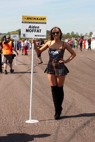 Aiden Moffatt's pit board during the BTCC Weekend at Thruxton, May 2016