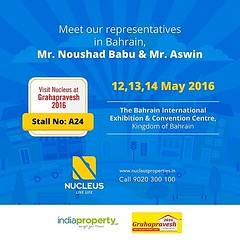Meet our representatives in Bahrain, Mr. Noushad Babu K T & Mr. Aswin at Grahapravesh 2016 and get to know more about our projects across Kerala.  Date: 12th, 13th &14th May   #Kerala #Kochi #India #Bahrain #Architecture #Home #Property #Show #Elegance #E (nucleusproperties) Tags: show life india building home nature beautiful beauty architecture design living bahrain realestate view apartment interior gorgeous lifestyle property style atmosphere kerala villa environment elegant exquisite comfort luxury kochi elegance