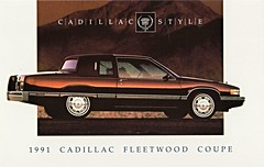 1991 Cadillac Fleetwood Coupe (aldenjewell) Tags: postcard cadillac 1991 coupe fleetwood