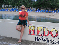 ann at hedo (kirky A) Tags: beach sign wall photoshop resort hedonism hedo thetravelslut travelslut annthetravelslut