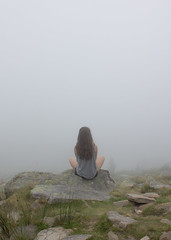 Through the clouds (a.crgt) Tags: white mountains me fog clouds montagne nuages brouillard