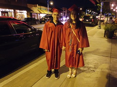 Random recent graduates from Mingus Union High School, walking Main St (EllenJo) Tags: family red arizona guests dinner pentax cousins cottonwood familyvisit bocce gradnight fridaynight verdevalley capandgown 2016 may20 dahlbergs cottonwoodaz outoftowners illinoispeople familyvisiting classof2016 86326 mingusunionhighschool ellenjo highschoolgraduates oldtowncottonwood ellenjoroberts illinoisresidents pizzeriabocce pentaxqs1 illinoisfolks