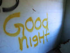 Good Night (800Spiders) Tags: urban house abandoned vancouver island graffiti bc columbia valley british exploration duncan derelict ue cowichan urbex paldi