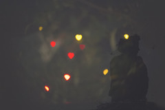 Celebrating (Dilanka Bandara) Tags: black girl silhouette hearts asia colours sri srilanka poya wesak