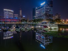 Buenos Aires (karinavera) Tags: city longexposure travel urban argentina night marina buenosaires cityscape yatch nikond5300