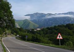 Approaching the Parque Nacional de los Picos de Europa (rimerbl) Tags: leica espaa mountains clouds landscape spain asturias mountainside picosdeeuropa leicadlux6 dlux6