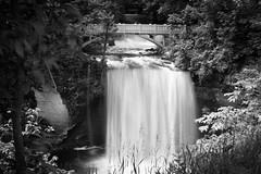 _DSC1157 Minneopa State Park, Minnesota USA (POV Heartland) Tags: longexposure bridge blackandwhite bw water zeiss river landscape sony scenic waterfalls e fe mankato carlzeiss a7ii minneopafalls loxia sonyalpha minneopastatepark a7m2 minnesotariverscenicbyway loxia250 loxiaf250mm loxiaf250
