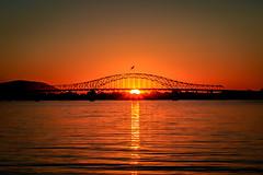 Blue Bridge Sunset (trail66td) Tags: sunset river columbia washingtonstate easternwashington