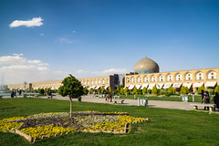Shah Mosque Perspective (Martin Tsvetkov) Tags: travel architecture photography lights iran perspective mosque wallpapers isfahan shah