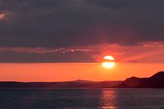 Slotted (jillyspoon) Tags: sea clouds canon evening coast scotland coastal suns irishsea portwilliam canon70d