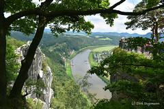 Ausblick von Bastei Felsen auf die Schsische Schweiz. (D.STEGEMANN) Tags: travel schweiz sachsen fels ausblick bastei reise