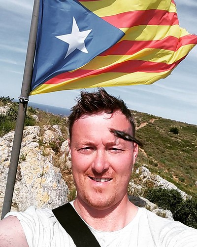 Me and some ferocious looking, flying stinging thing, at the top of Castle Di Montgrí, #cataluña #vivacatalunya