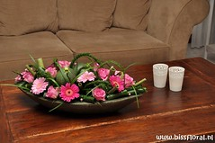 Voor op #Tafel... (floralworkshops) Tags: roos schaal germini