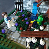 First Scary Moment (Sweeney Todd, the Lego) Tags: lego bear project monster museum frankenstein ghost ghosts photography minifigure minifigures castle scary spooky horror tower dracula