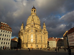 Dresden - the Frauenkirche (echumachenco) Tags: sunlight church clouds germany deutschland dresden saxony wolken sachsen baroque frauenkirche barock musictomyeyes sonnenlicht flickraward mygearandme mygearandmepremium ringexcellence blinkagain