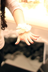 (alyssa roth) Tags: flower fashion contrast hair 50mm hands focus f14 mint jewelry nails curly bracelet foreverxxi