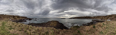 Catterline panorama (P2219937) (Mel Stephens) Tags: catterline aberdeenshire scotland uk coast coastal 2012 panorama panoramic stitched ptgui visions olympus cliff gps hdr geotagged 201202 winter q1 february