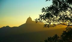 Corcovado (Man) Tags: sunset brazil rio riodejaneiro corcovado flamengo padeaucar
