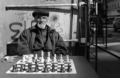 . (Tom Andrews) Tags: portrait graffiti chess streetphotography streetportrait streetphoto graff constructionsite chessplayer streetchess losangelesgraffiti tomandrews hollywoodgraffiti