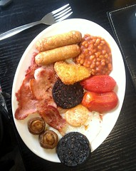 All Day Breakfast (davekpcv) Tags: red food mushroom breakfast catchycolors tomato bacon cafe beans egg sausage brunch englishbreakfast rochdale hashbrown htc blackpudding fullenglish alldaybreakfast cookedbreakfast
