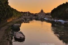 st peter's basilica at sunset (Rex Montalban Photography) Tags: sunset italy stpeters rome europe basilica sanpietro hdr tiberriver fiumetevere photomatix rexmontalbanphotography