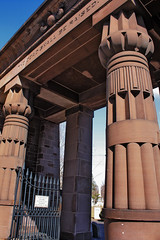 The Dead Shall Be Raised (wamcclung) Tags: architecture gate portal column funerary egyptianrevival architecturaldetails yaleuniversity nhpt