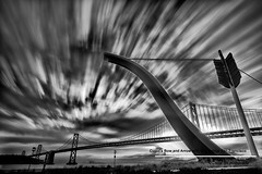 Cupid's Bow and Arrow with Bay Bridge San Francisco (davidyuweb) Tags: sanfrancisco california bridge usa bay san francisco soft long exposure with 10 9 stop filter edge bow nd arrow cupids gnd