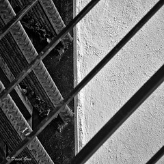 Courtyard Stairs, St Thomas, USVI, 2012 (qixtepr) Tags: bw abstract stairs square courtyard day9 stthomas sfx usvi linescurves sep2 couirtyard abstractsquare linescurvesconteststairs