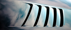 Louvered Sky (Sky Noir) Tags: sky usa black sports car reflections photography drive virginia wide american dodge hood viper coupe v10 vents sportscar roadster srt srt10 louvers 6speed rearwheel skynoir