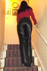DSCF0568 (Dark Looks Costumes) Tags: girl leather japanese cosplay butt rubber plastic jeans lolita bitch masturbation humping sexygirl getish leatherskirtfetish leathrpants