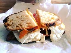 breakfast sandwich (ekelly80) Tags: seattle washington bacon sandwich fremont deli eggs breakfastsandwich dotsdelicatessen