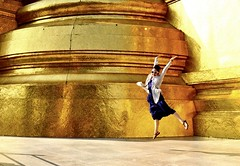 Jump up jump up and get down (egami obscura | www.egamiobscura.com) Tags: summer thailand gold golden jump nikon asia bangkok floating levitation palace grandpalace leap jumpforjoy girljumping