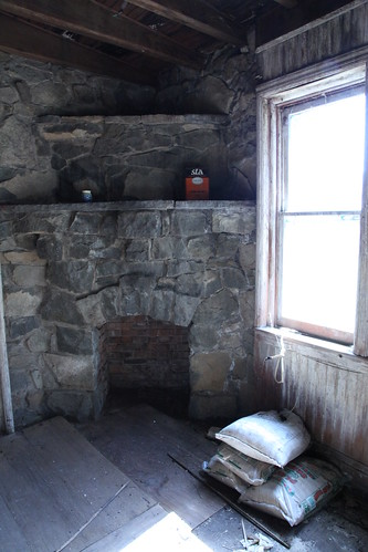 Tower turret fire place