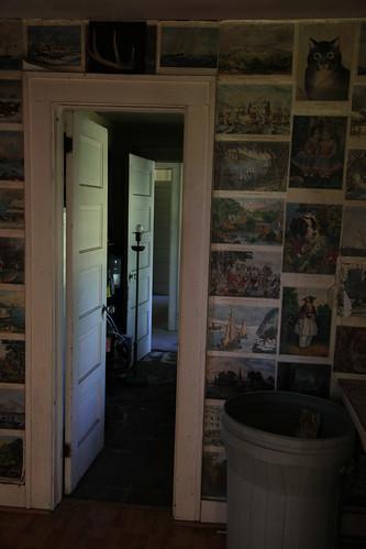 Doorway to mud room and first floor bedroom
