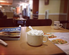 aftertaste (I thought it classic) Tags: coffee menu table chairs mug ihop instagram